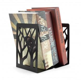 - 2 Adet Dekoratif Kitap Tutucu, Kitap Ayracı, Metal Kitaplık (Siyah)