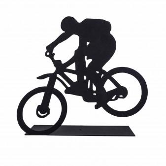 - Dekoratif Metal Extreme Bisiklet Sürücüsü Metal Heykeli (Siyah)
