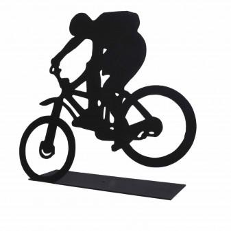 Dekoratif Metal Extreme Bisiklet Sürücüsü Metal Heykeli (Siyah) (3)