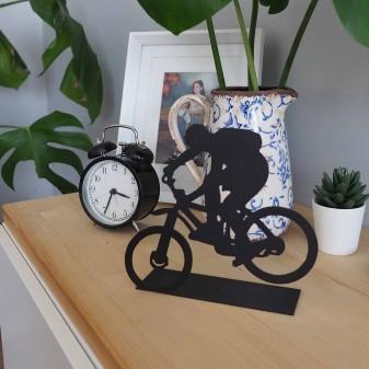- Dekoratif Metal Extreme Bisiklet Sürücüsü Metal Heykeli (Siyah) (1)
