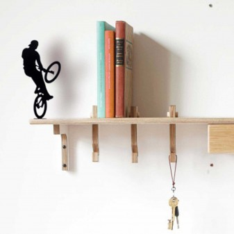 Extreme Bisiklet Sürücüsü - Dekoratif Metal Obje (Siyah) - Thumbnail