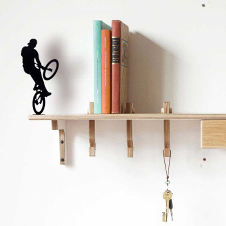 Extreme Bisiklet Sürücüsü - Dekoratif Metal Obje (Siyah)