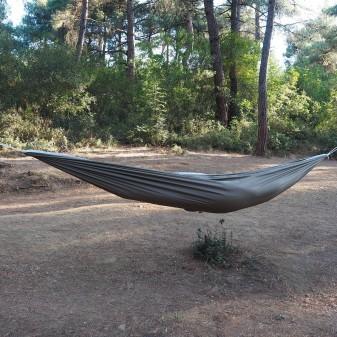Kamp ve Piknik Cep Hamak - Su Geçirmez Polyester Kumaş Hamak (Yeşil) (3)