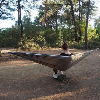 Kamp ve Piknik Cep Hamak - Su Geçirmez Polyester Kumaş Hamak (Yeşil) (1)