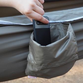 - Kamp ve Piknik Cep Hamak - Su Geçirmez Polyester Kumaş Hamak (Yeşil) (1)