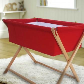 Lotus Anne Yanı Bebek Hamak Beşik - Yatak Yanı Sabit Model Beşik (Kırmızı) (3)