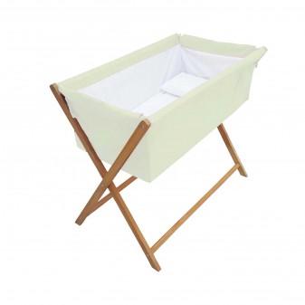 - Lotus Anne Yanı Bebek Hamak Beşik - Yatak Yanı Sabit Model Beşik (Krem)