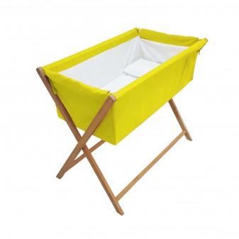 - Lotus Anne Yanı Bebek Hamak Beşik - Yatak Yanı Sabit Model Beşik (Sarı)