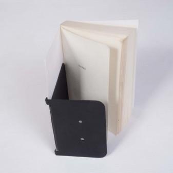 Sihirli Duvar Kitap Tutucu, Metal Dekoratif Duvar Kitaplık Modeli (Siyah) - Thumbnail