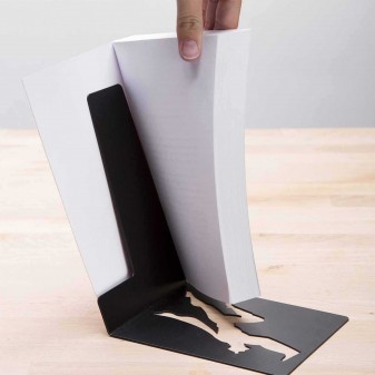 Süpermen Metal Kitap Rafı, Metal Dekoratif Kitaplık (Siyah) (5)