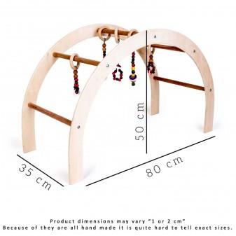 Svava Ahşap Bebek Oyun Halısı Oyuncağı - Çocuk Aktivite Seti (Boyasız) (2)