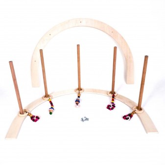 Svava Ahşap Bebek Oyun Halısı Oyuncağı - Çocuk Aktivite Seti (Boyasız) (5)
