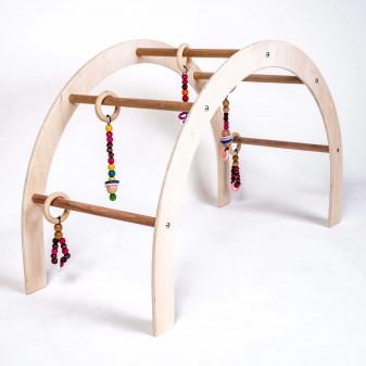 Svava Ahşap Bebek Oyun Halısı Oyuncağı - Çocuk Aktivite Seti (Boyasız) (6)