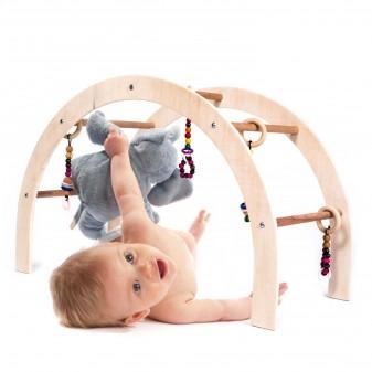 Svava Ahşap Bebek Oyun Halısı Oyuncağı - Çocuk Aktivite Seti (Boyasız) (1)