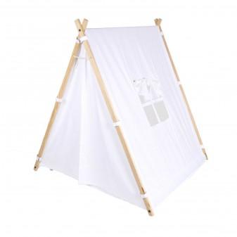 Svava Ahşap Çocuk Oyun Çadırı - Oyun Evi (Beyaz) (1)