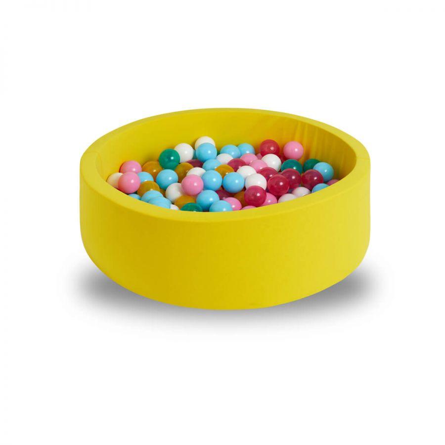 Svava Bebek Oyun Havuzu - Sünger Top Oyun Seti (Sarı)