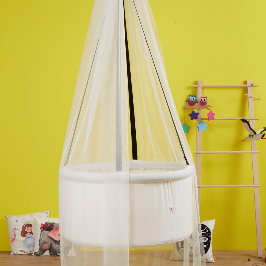 Svava Cibinlikli Sepet Salıncak - Tavana Asılan Model (Beyaz)