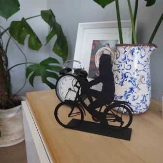 - Svava Dekoratif Metal Kadın Bisiklet Sürücüsü Metal Heykeli (Siyah) (1)