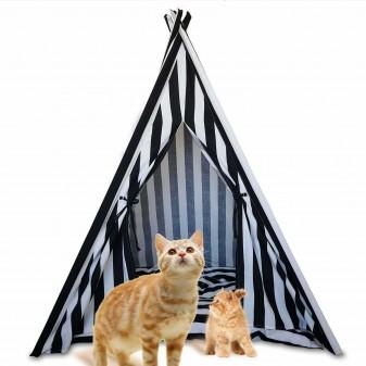 - Svava Kedi Köpek Çadırı - Küçük Irk Köpek Kulübesi (Siyah - Beyaz)