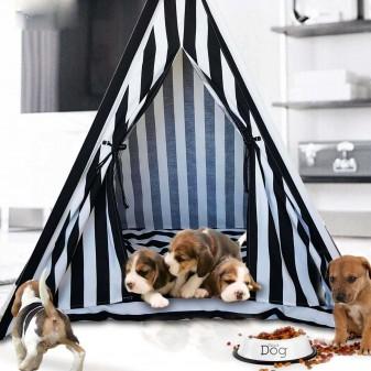 - Svava Kedi Köpek Çadırı - Küçük Irk Köpek Kulübesi (Siyah - Beyaz) (1)