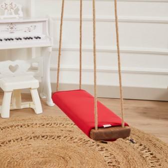 Svava Klasik Ahşap Piknik Salıncak - Ev ve Bahçe Modeli (Kırmızı) - Thumbnail