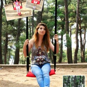 Svava Klasik Bahçe, Piknik Salıncak- Çocuk Salıncağı (Kırmızı) - Thumbnail