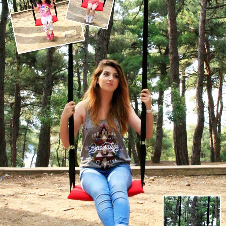 Svava Klasik Bahçe, Piknik Salıncak- Çocuk Salıncağı (Kırmızı)