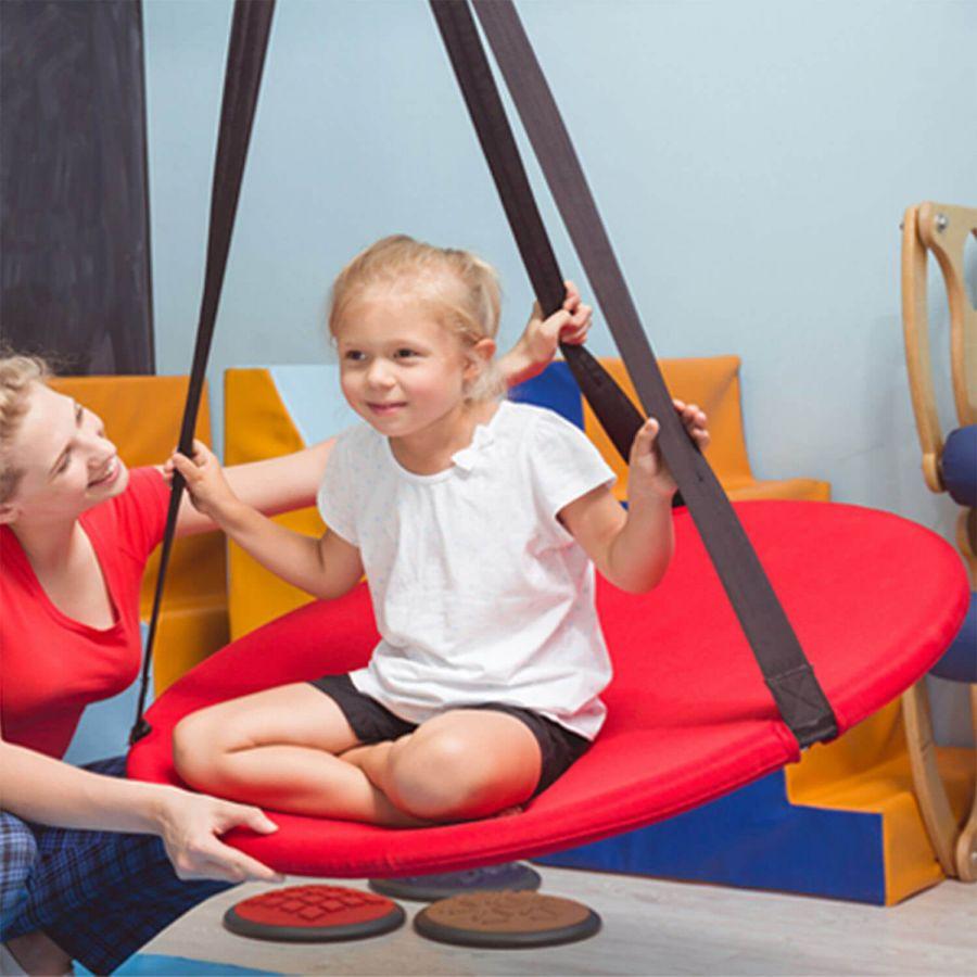 Svava Orta Boy Salıncak (70 cm) Ev Tipi Çocuk Salıncak (Kırmızı)