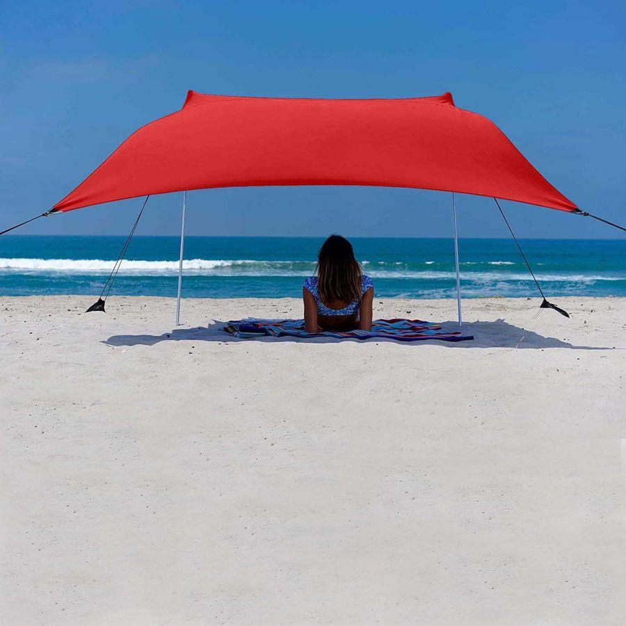 Svava Plaj Gölgelik Tente - Kamp Gölgeliği (Kırmızı)