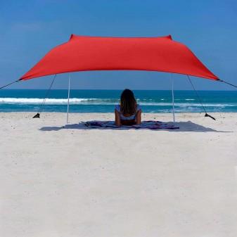 - Svava Plaj Gölgelik Tente - Kamp Gölgeliği (Kırmızı)