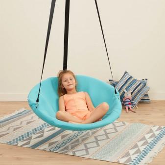 Relaks Salıncak - Ev Tipi Yetişkin ve Çocuk Salıncağı (Turkuaz) - Thumbnail