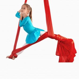 Yoga Fly Hamağı, Antigravity Askılı Yoga Denge Spor Aleti (Kırmızı) (2)