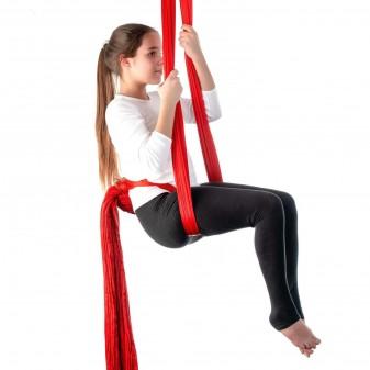 Yoga Fly Hamağı, Antigravity Askılı Yoga Denge Spor Aleti (Kırmızı) (3)
