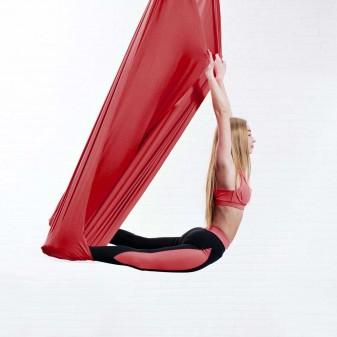 Yoga Fly Hamağı, Antigravity Askılı Yoga Denge Spor Aleti (Kırmızı) (1)