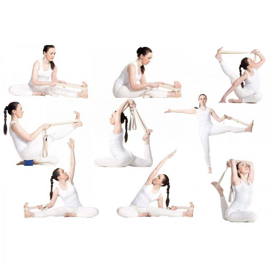 Yoga Kemeri, Organik Pamuk Yoga Kayışı (Boyasız)