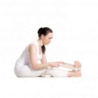 Yoga Kemeri, Organik Pamuk Yoga Kayışı (Boyasız) - Thumbnail